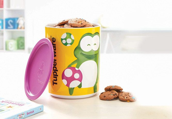 Tupperware Playful Froggy Canister