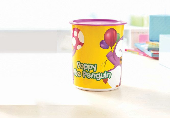 Tupperware Playful Poppy Canister