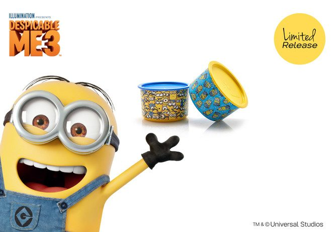 Tupperware Minion Giggle Canister